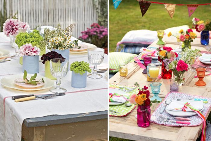 Terrazas de verano for Decoracion mesas de jardin