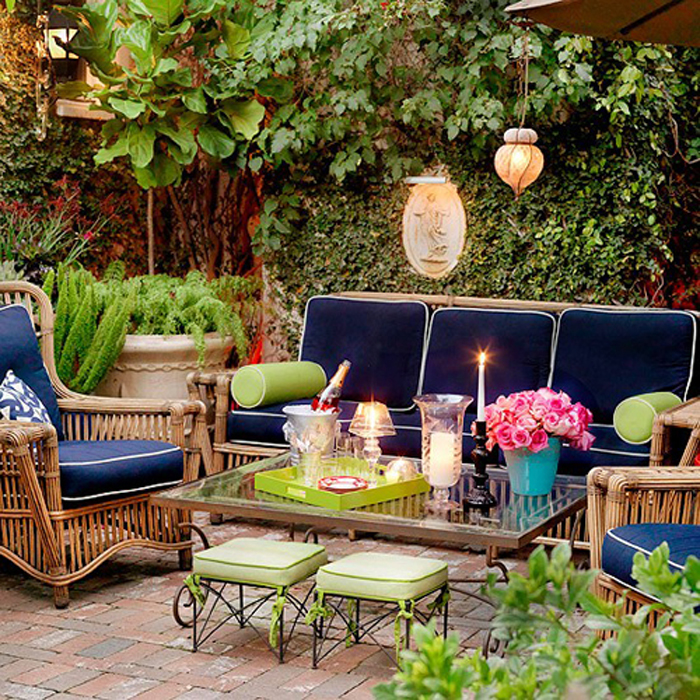 Terrazas de verano for Garden decking seating areas